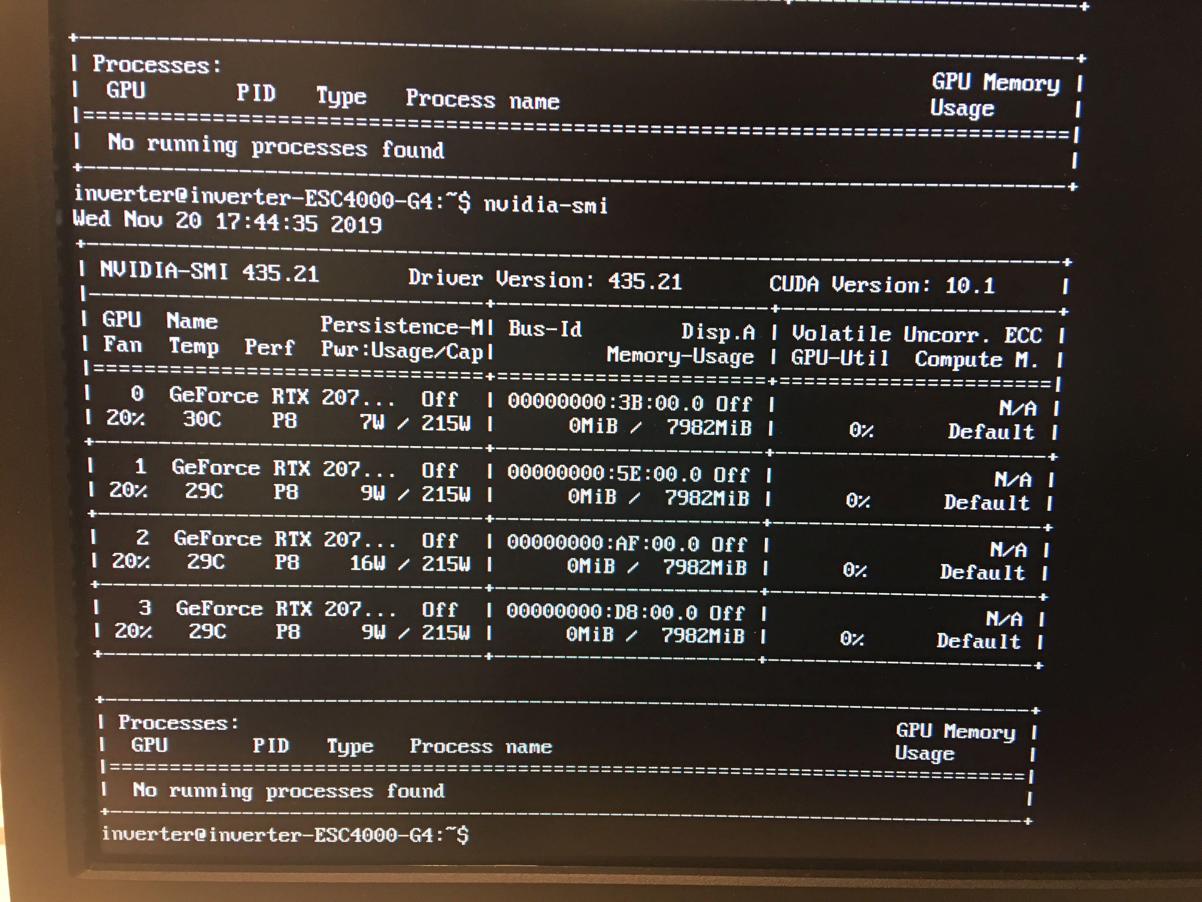 nvidia-smi only reporting 3/4 GPUs while Ubuntu reports 4/4