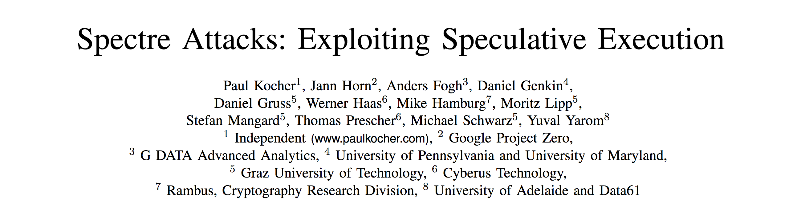 Spectre Attacks: Exploiting Speculative Execution.