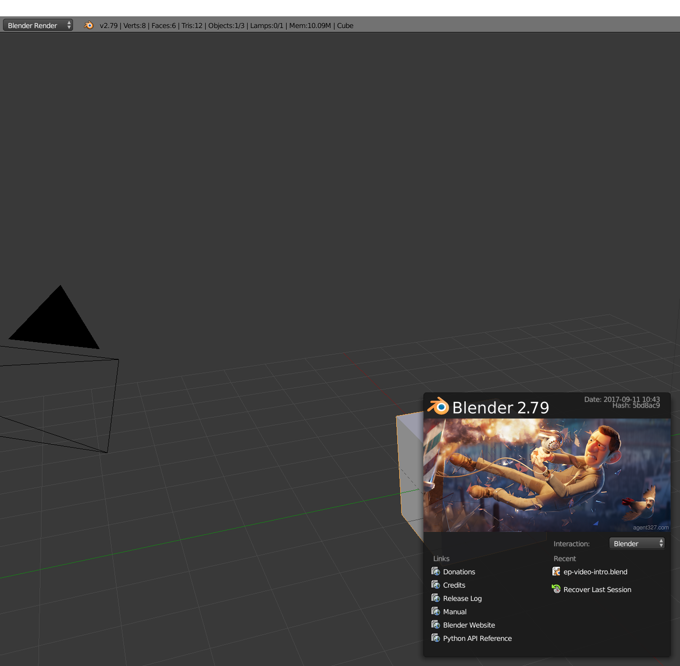 Opening my project in blender which uses Animation Nodes makes the