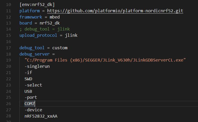 vscode (1 21 1)+platformio (3 5 3a7) + openocd (0 10) -> no