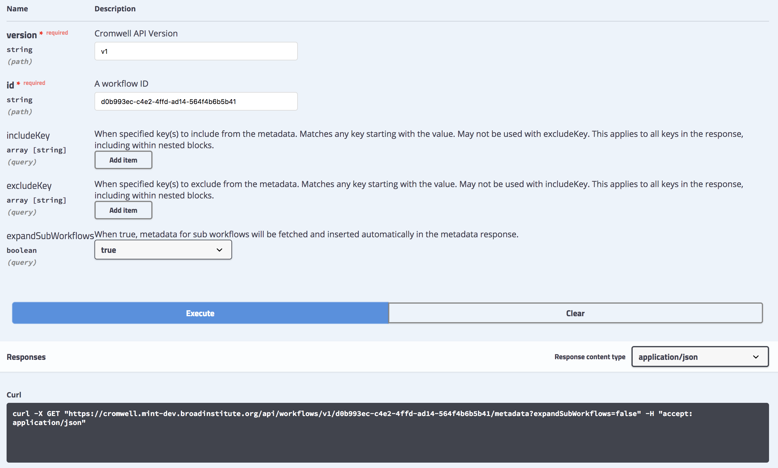 ExpandSubWorkflows parameter for metadata endpoint v30