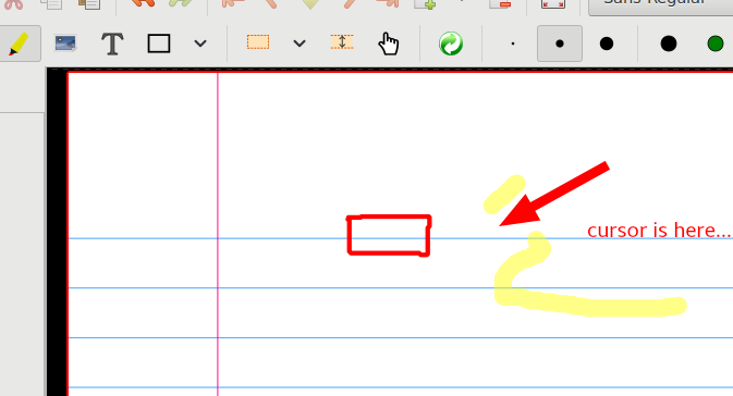 cursor disappears word
