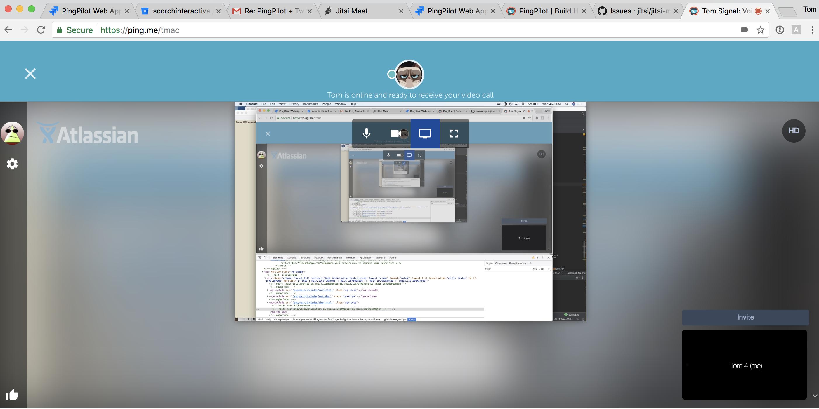 Screensharing infinitely loops · Issue #2506 · jitsi/jitsi