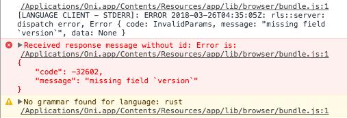 Rust Language Server support · Issue #1926 · onivim/oni · GitHub
