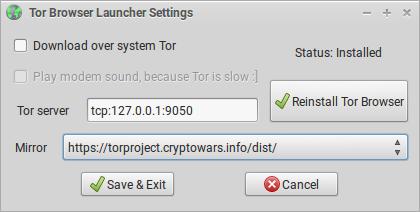 tor browser launcher hidra