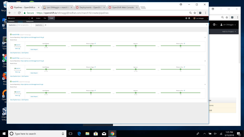 Error In Openshift Online Deployment Not Reported To User In