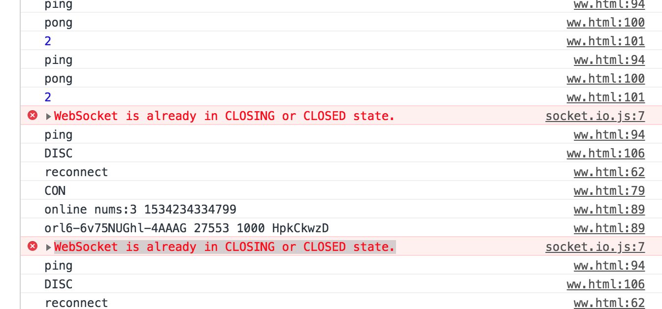 WebSocket is already in CLOSING or CLOSED state  · Issue #3308