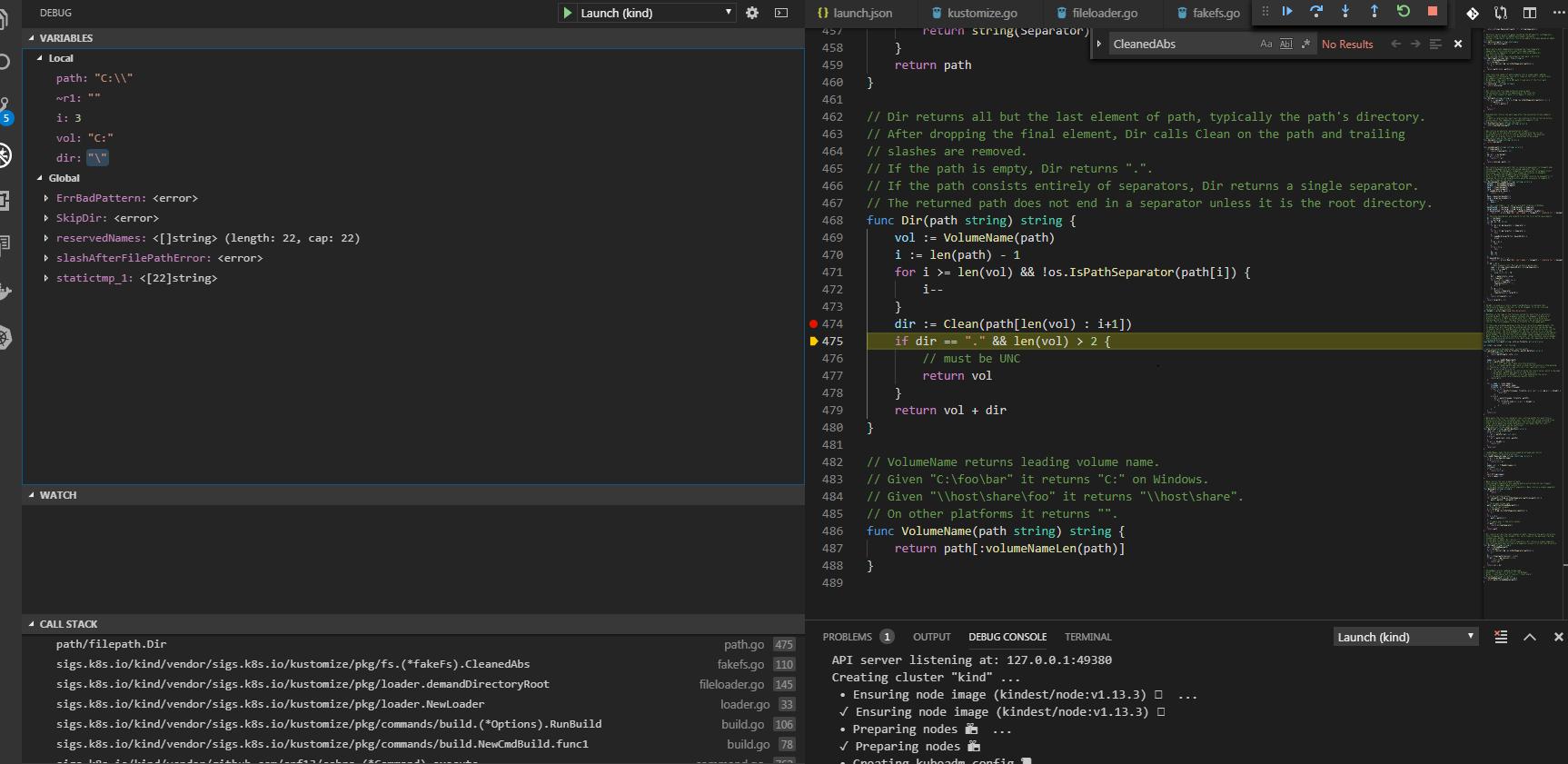 Errors running kind on windows 7 using docker toolbox