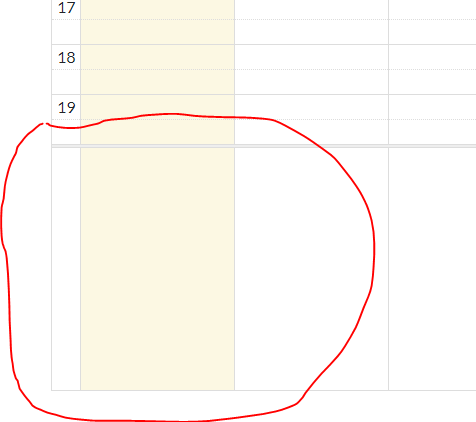 empty block when use maxTime in timeGrid view · Issue #4314