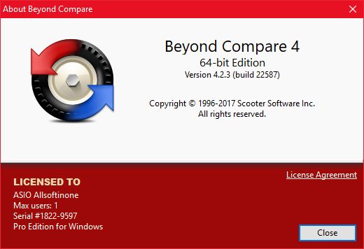 beyond compare windows registry