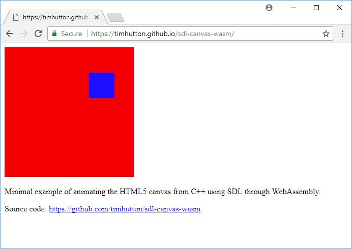 GitHub - timhutton/sdl-canvas-wasm: Minimal example of