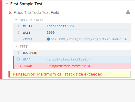 Max Call Stack When Trying To Type In An Input Field Typetext