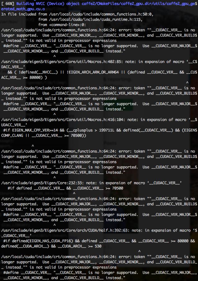 Caffe2 install failure · Issue #7426 · pytorch/pytorch · GitHub