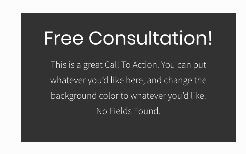 "No Fields Found"" in Free Consultation HTML widget · Issue #4"