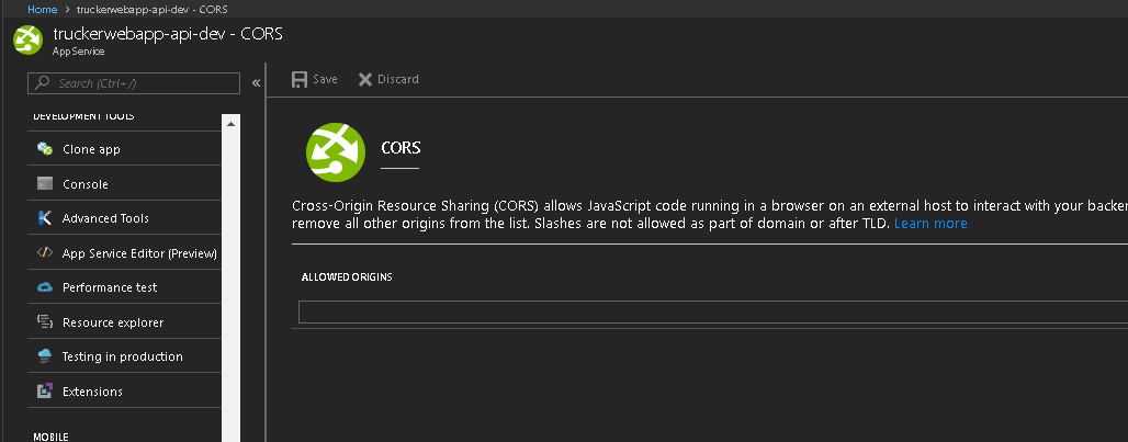 SignalR Javascript client CORS issue 'Access-Control-Allow
