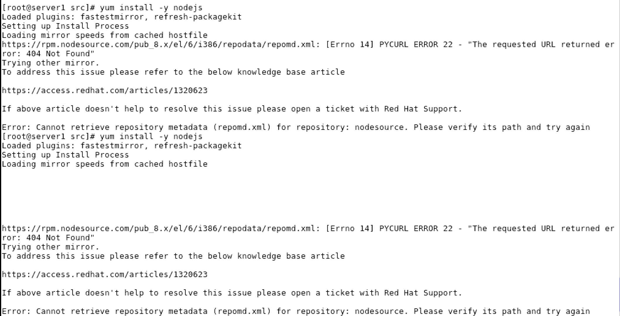 CentOS 6 7 not supported · Issue #346 · nodesource
