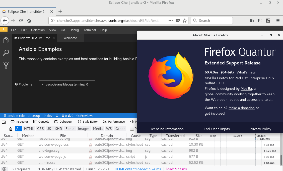 Terminal is empty on Firefox · Issue #13736 · eclipse/che