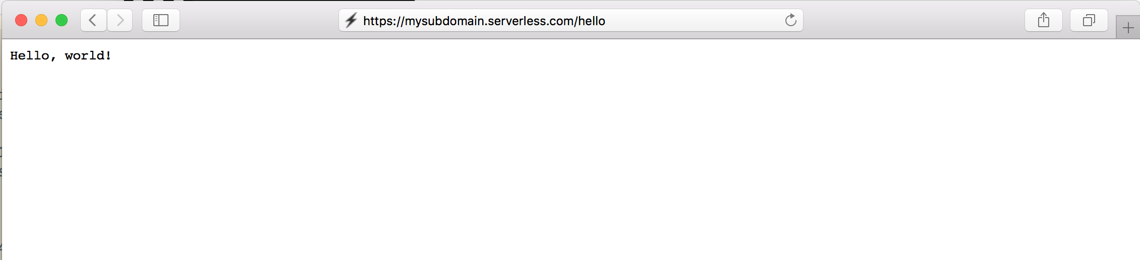 Hello Endpoint Custom Domain