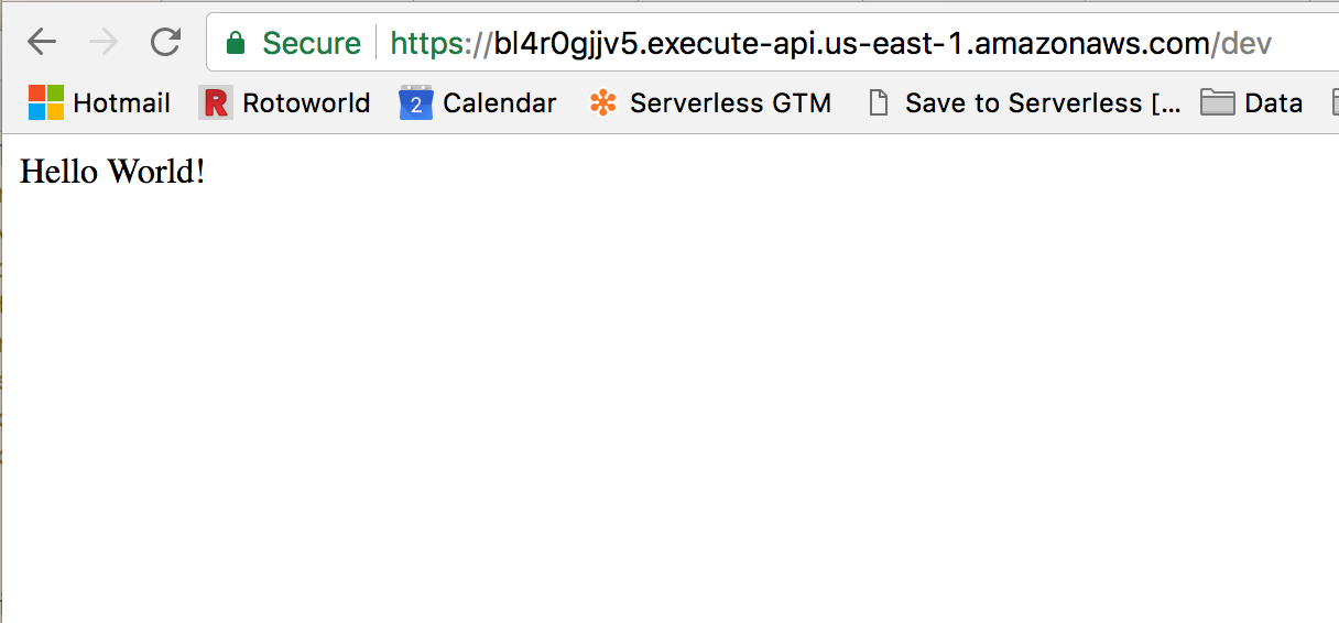 Deploy a REST API using Serverless, Express and Node js