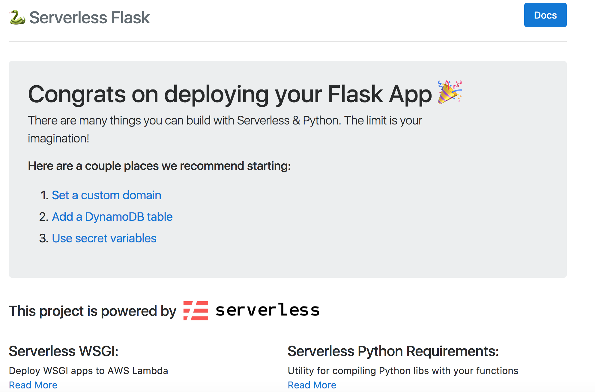 Build a Python REST API with Serverless, Lambda, and DynamoDB