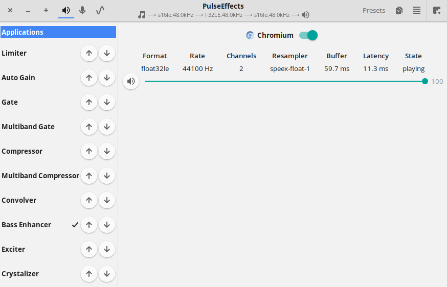 Jamming/stuttering during playback from the Chromium · Issue