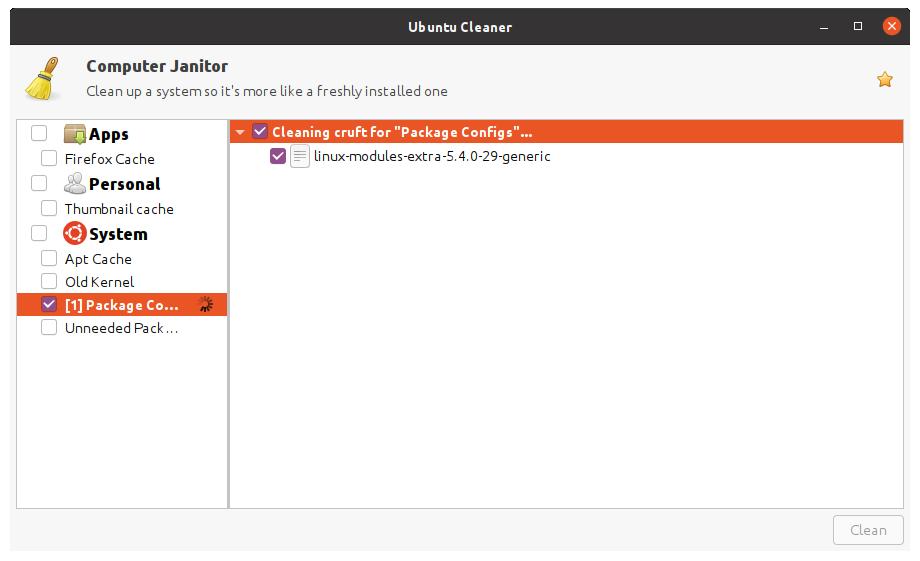 ubuntu-cleaner-bug