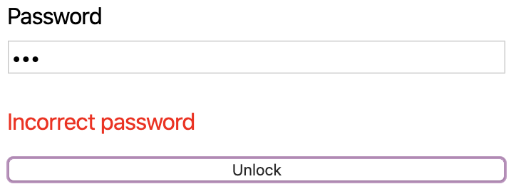 example failed password validation
