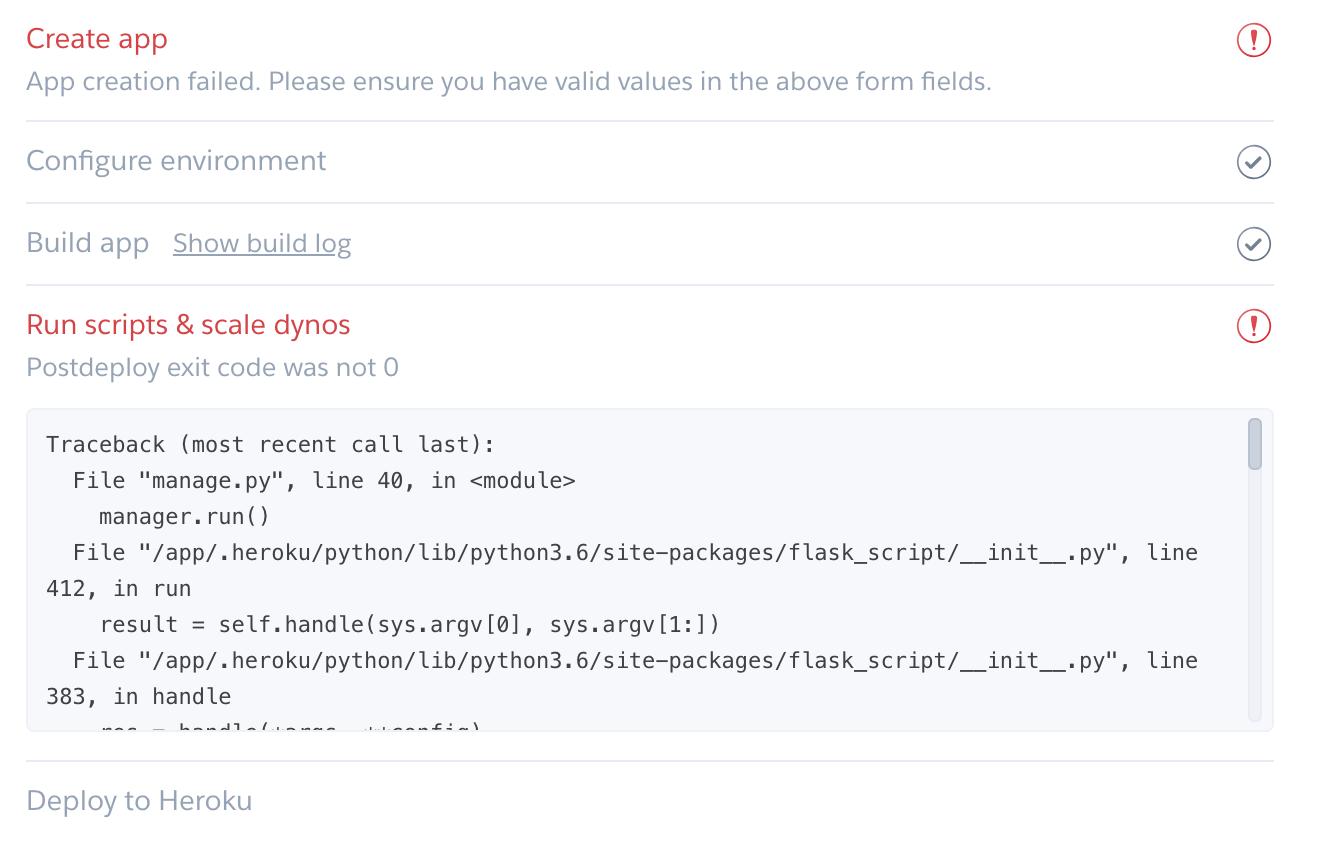 Heroku deploy error when running scripts · Issue #49