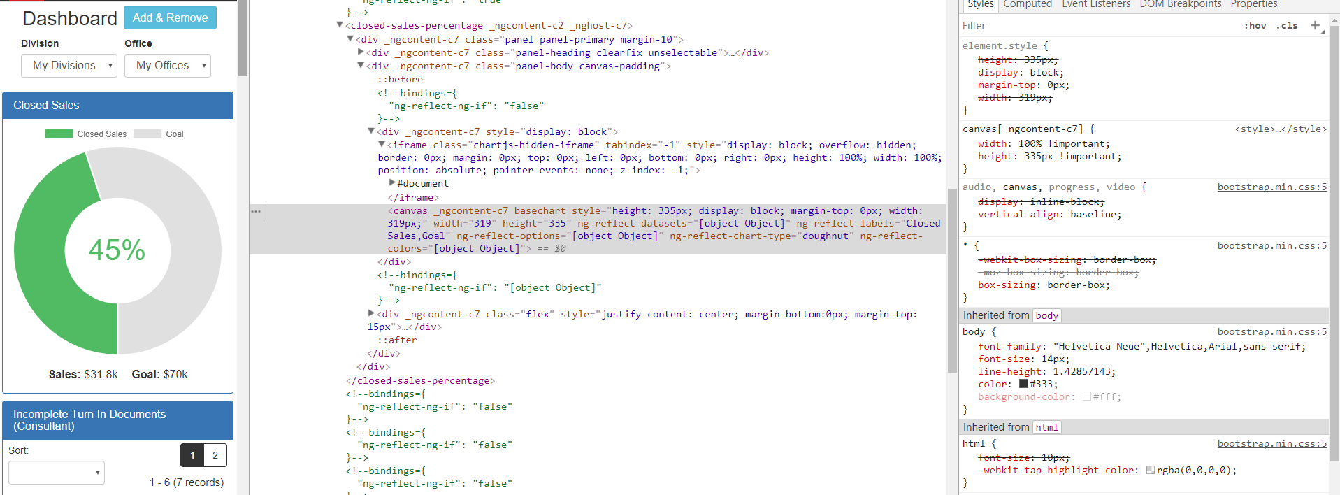 Doughnut chart not showing up after AOT? (but filltext is working