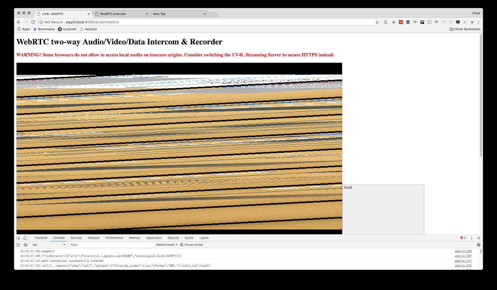 Uv4l Raspidisp Screen Is Garbled Issue 5 Webrtchacks Wiringpi Serial Not Working Image