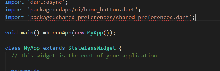 Target of URI doesn't exist: package:shared_preferences
