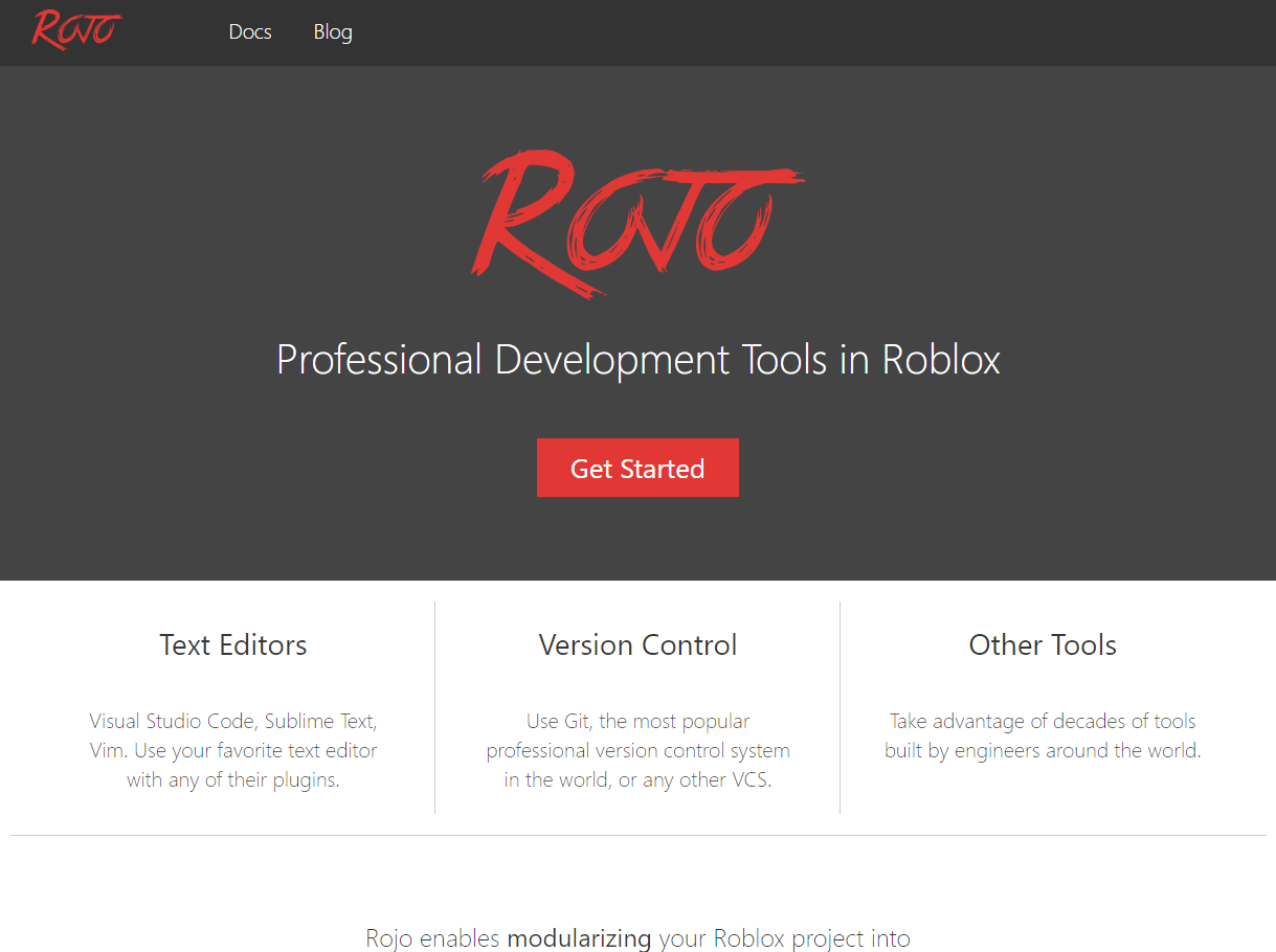 Rojo website