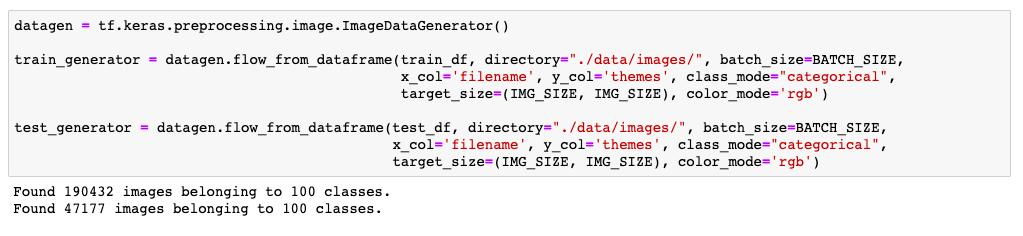 flow_from_dataframe() does not seem to follow steps_per_epoch in