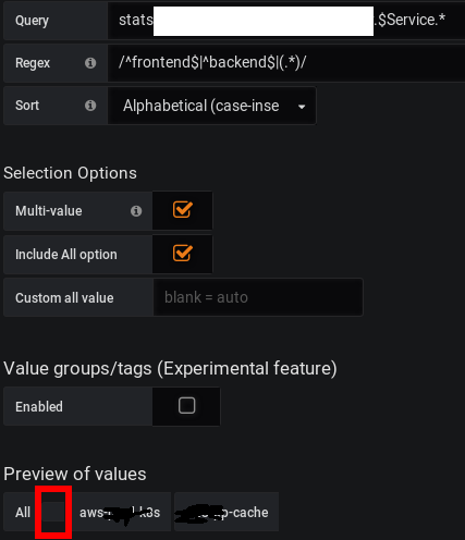 Blank value appears when filtering variable with regex · Issue