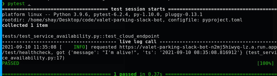 Test endpoint