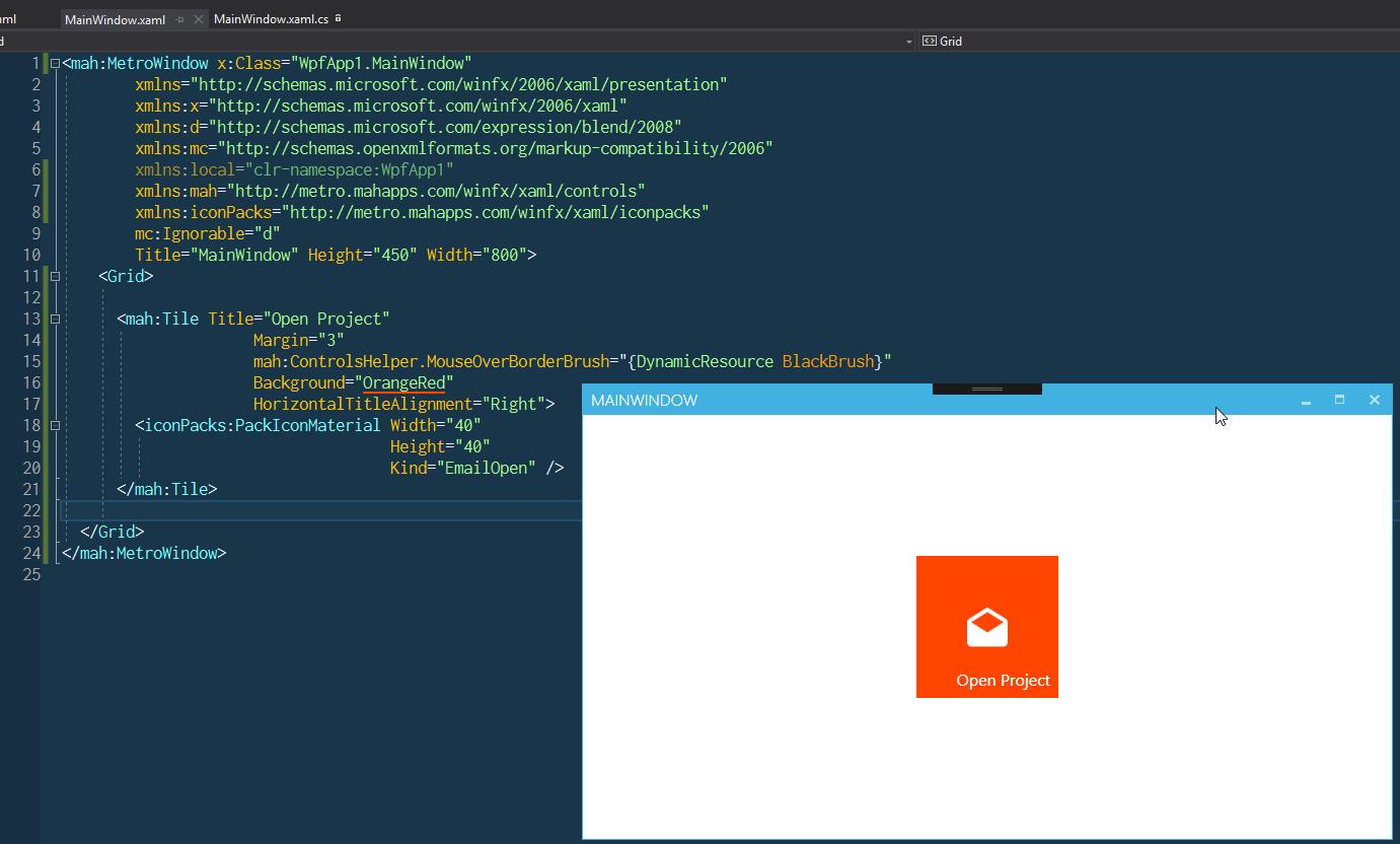 GitHub - punker76/WpfAppMahAppsIconPacks: WPF sample with