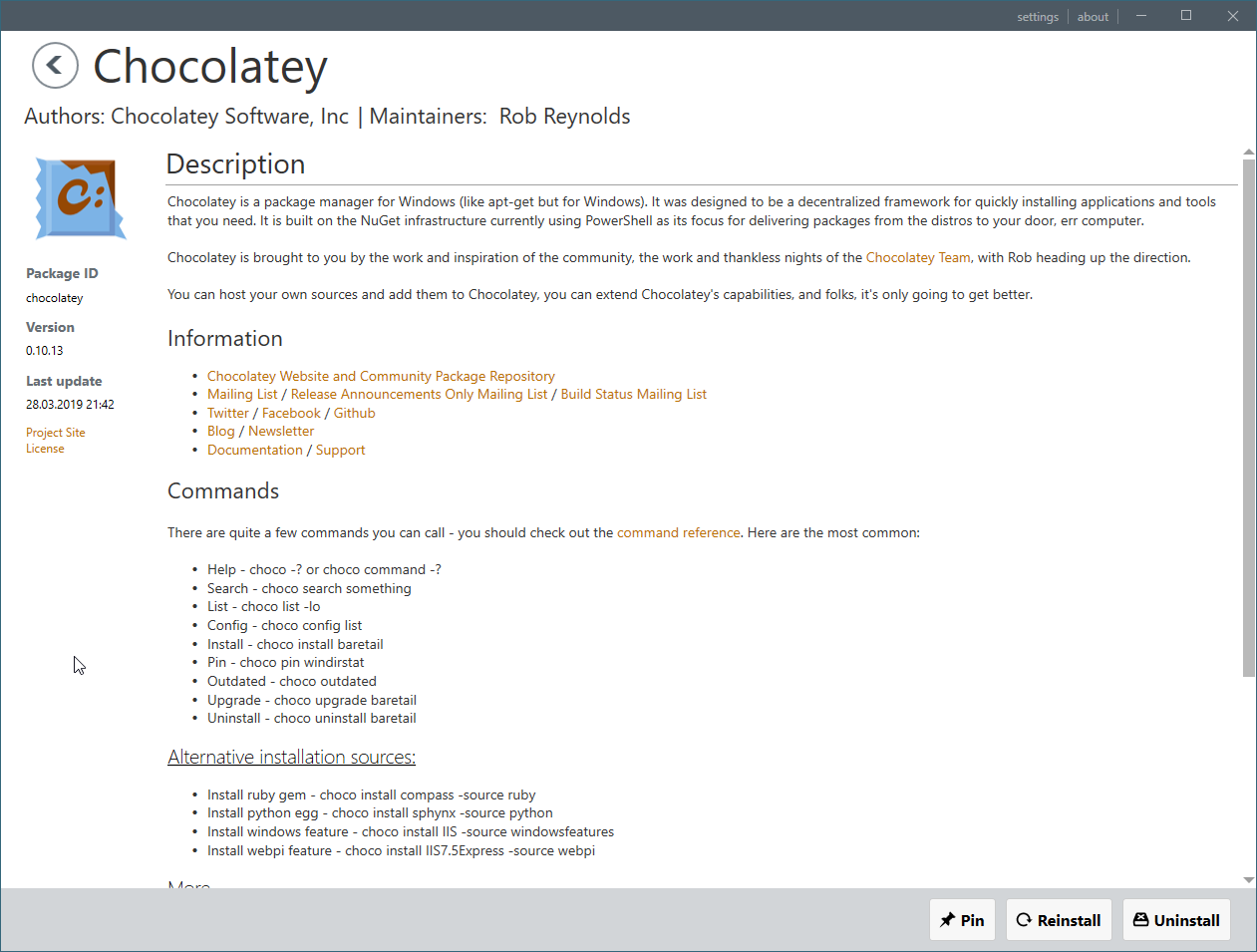 Rendering of headings in description · Issue #356 · chocolatey