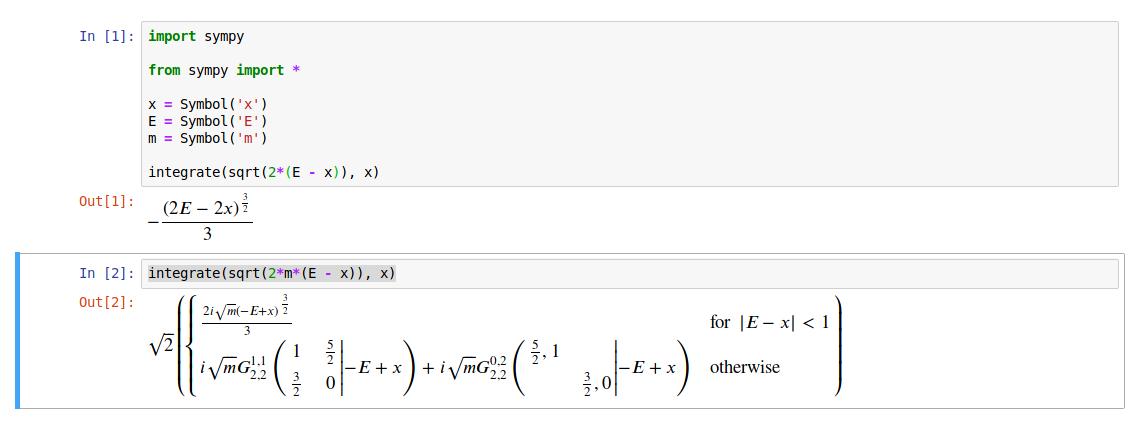 integrate(sqrt(2*m*(E - x)), x) · Issue #16951 · sympy/sympy · GitHub