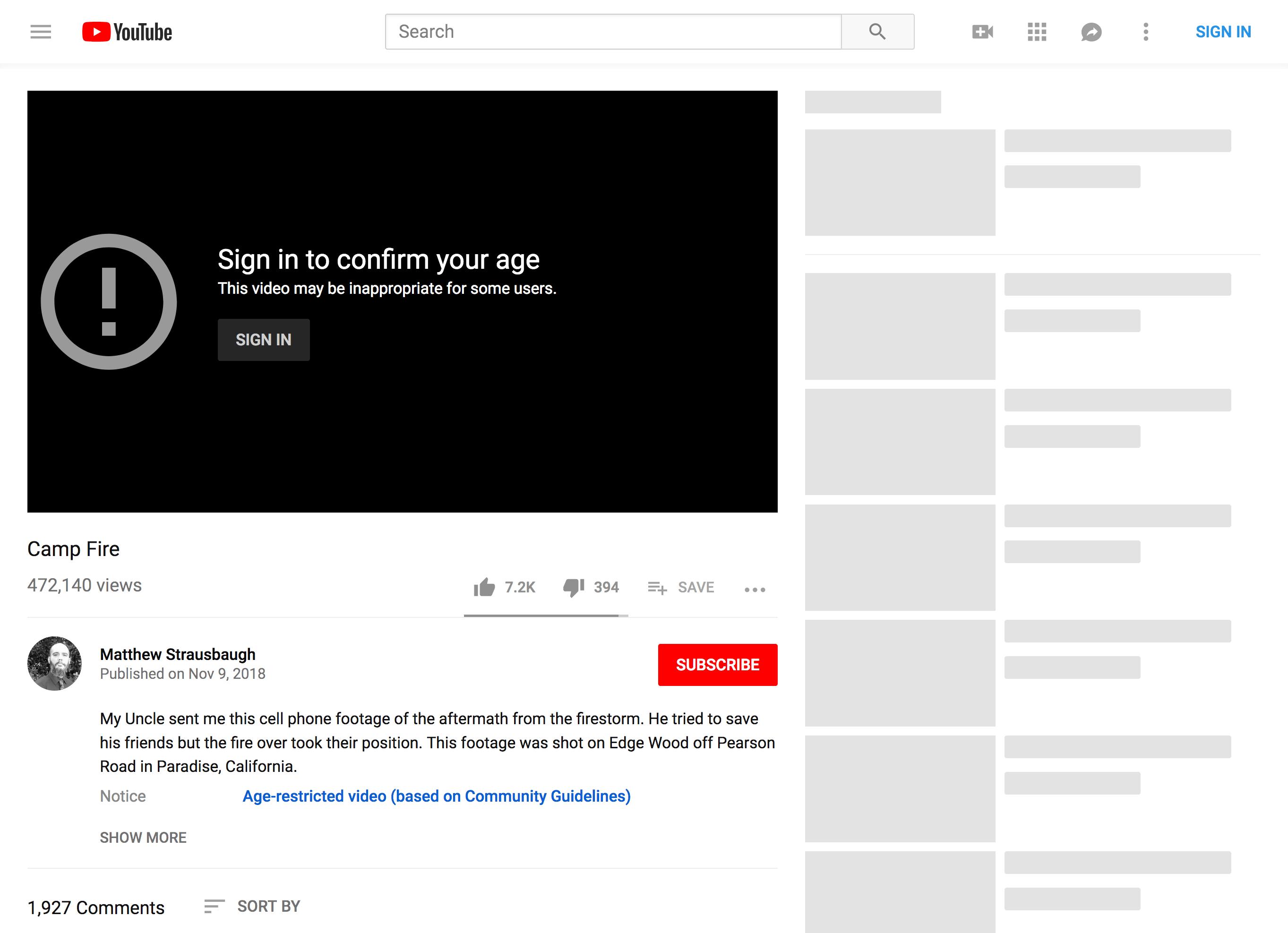 youtube com - Youtube Viewer discretion