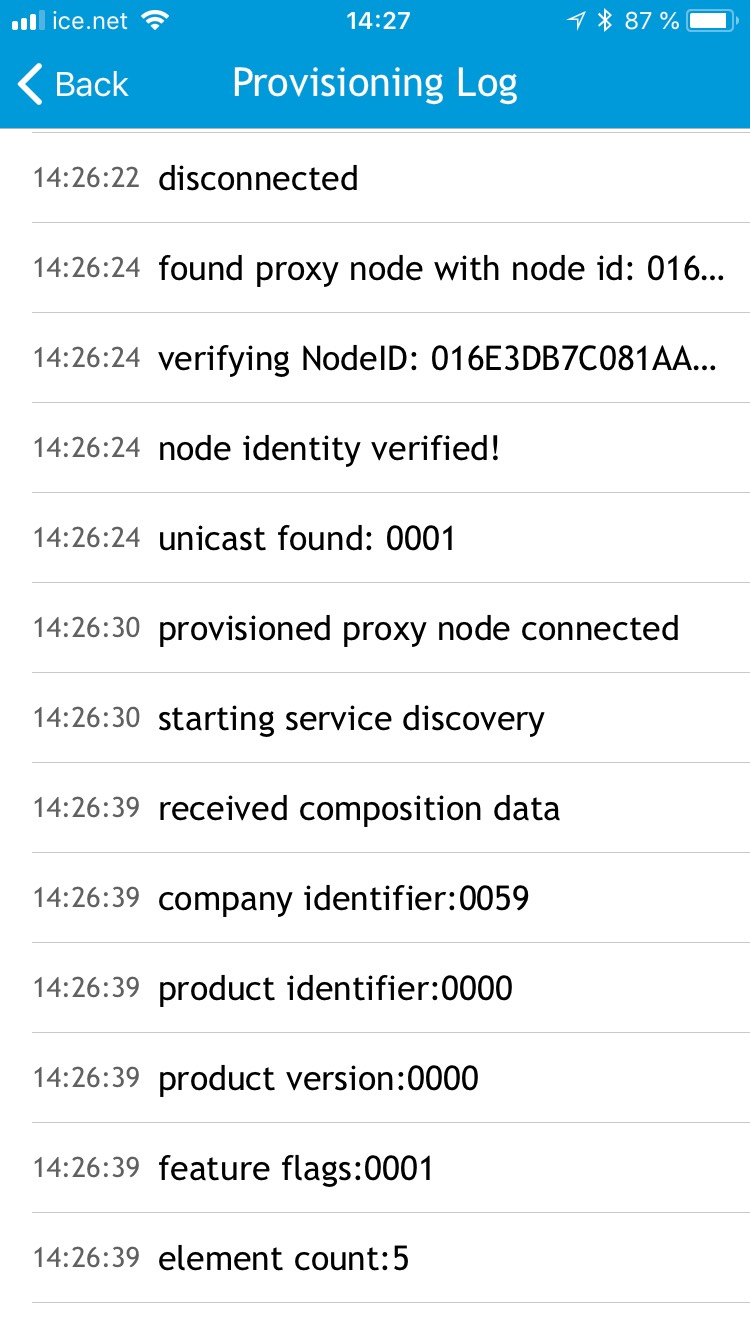nRF Mesh app stuck during provisioning of light switch proxy