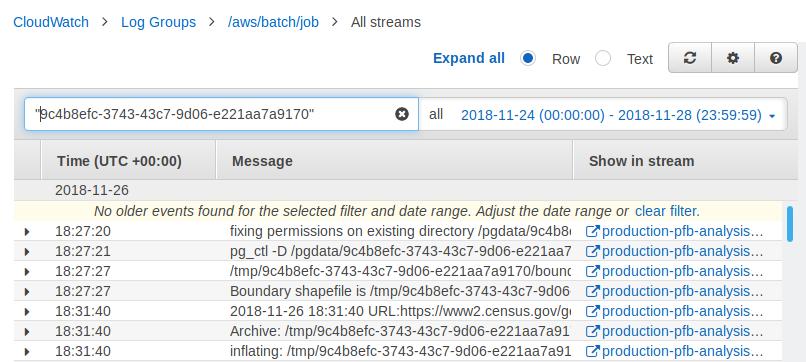 Replace CloudWatch logs url in UI · Issue #572 · azavea/pfb