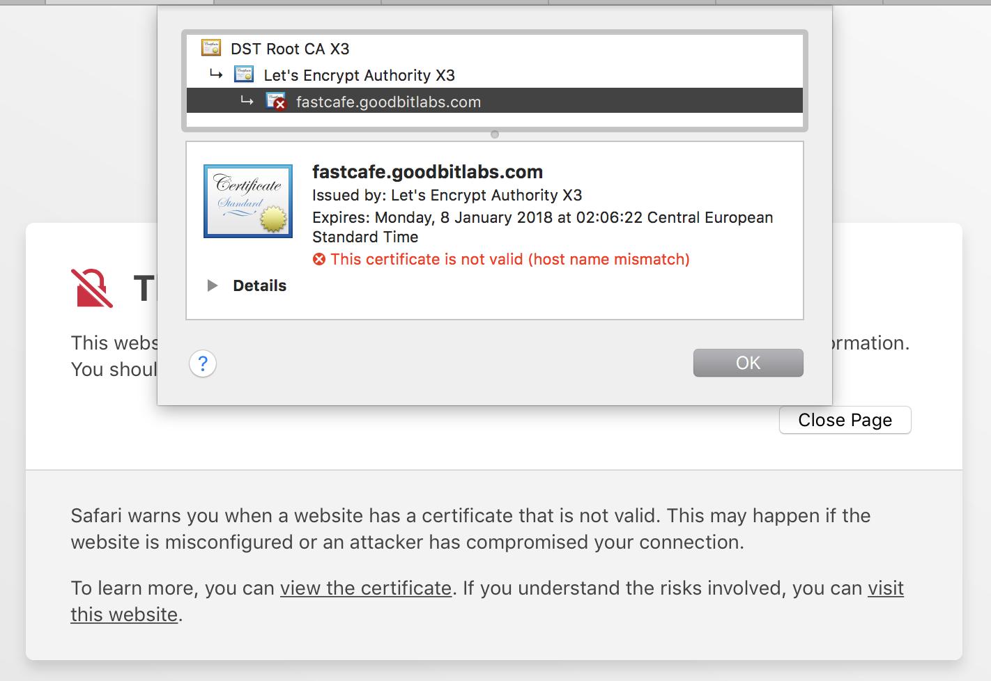 Ssl Certificate Not Valid Host Name Mismatch Issue 11 Mxgrn