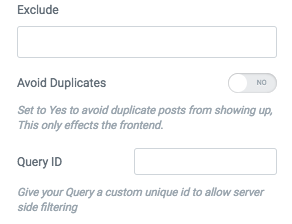 Add custom query options for Query control · Issue #1748