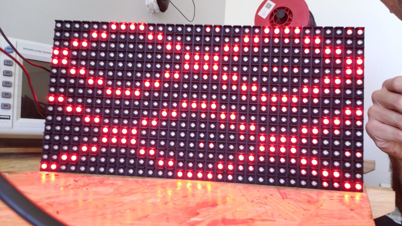 Screen not displaying correctly · Issue #52 · adafruit/RGB-matrix