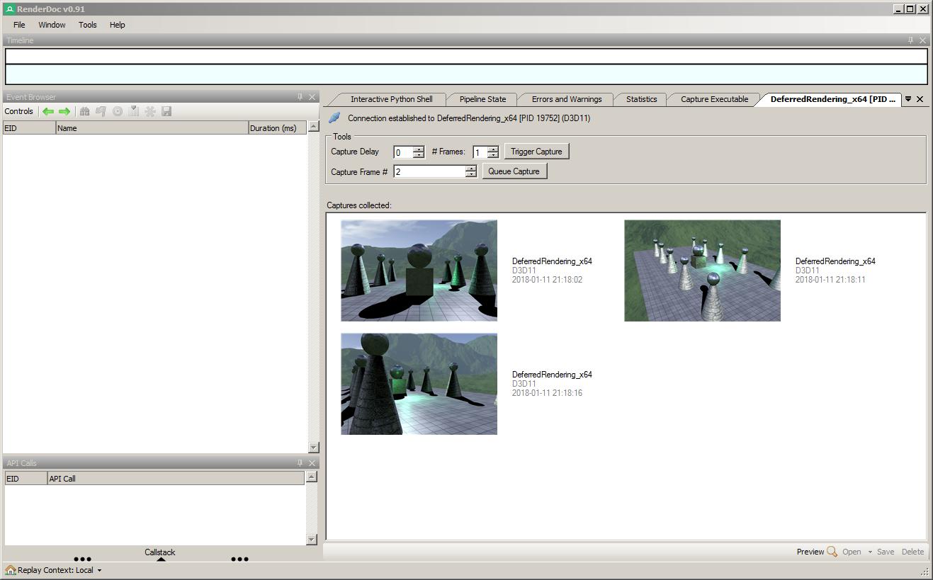 Open capture automatically when using API? · Issue #843 · baldurk