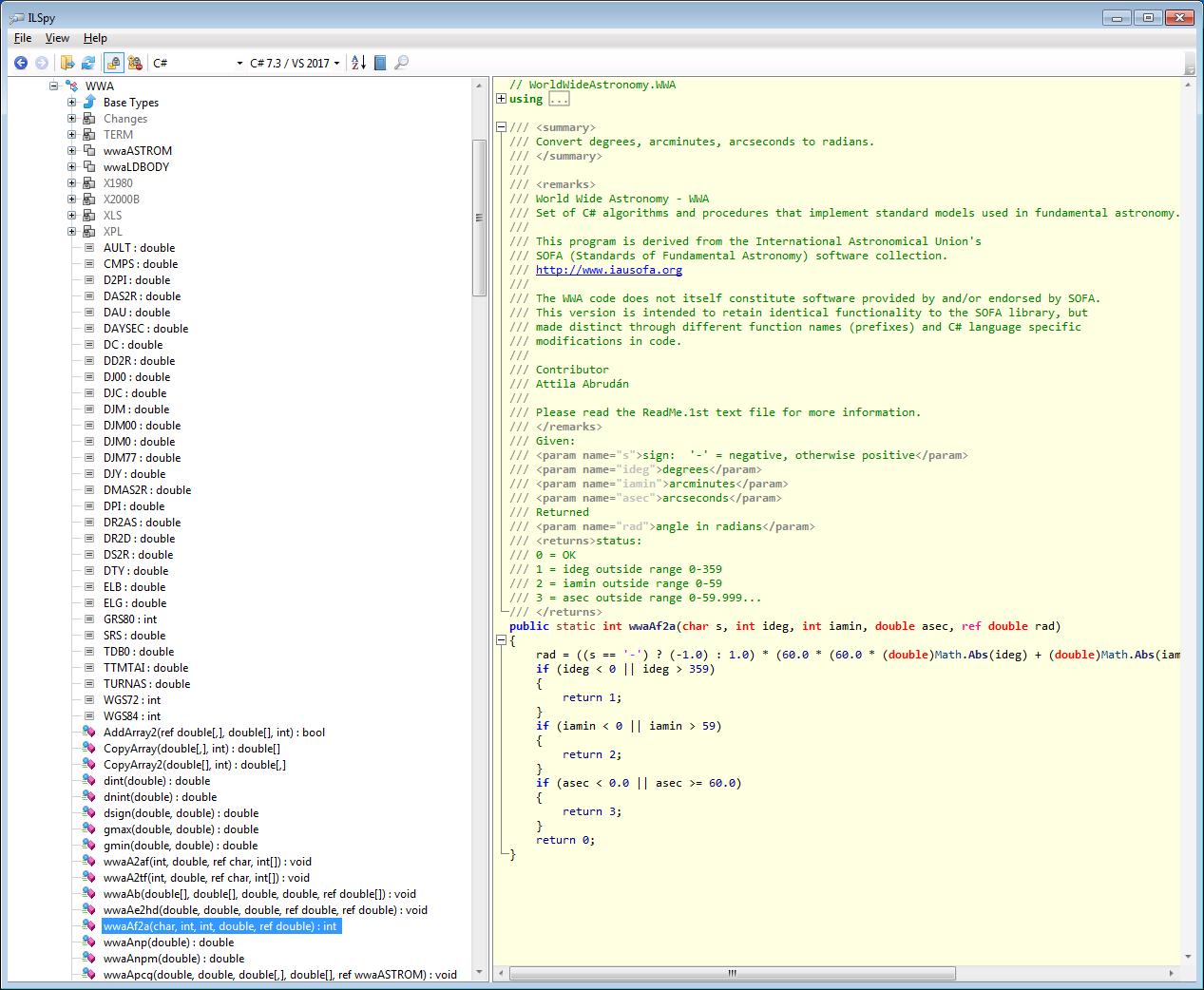Self documentation of static wwa* method names · Issue #6