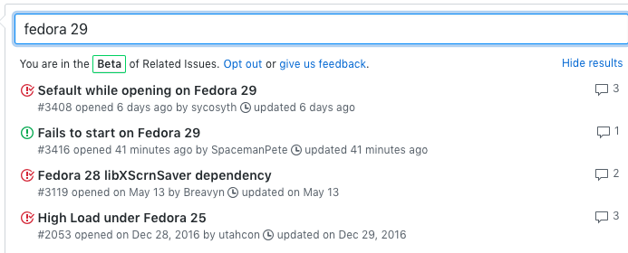 Fails to start on Fedora 29 · Issue #3416 · MarshallOfSound