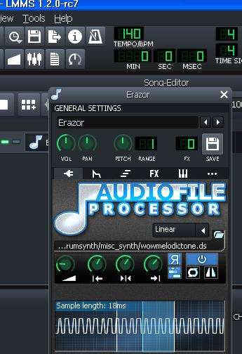 LMMS closes when you touch the audio file processor · Issue