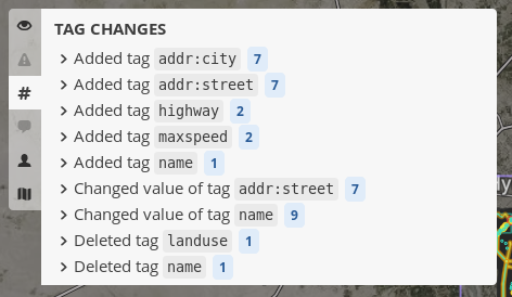 tag changes summary