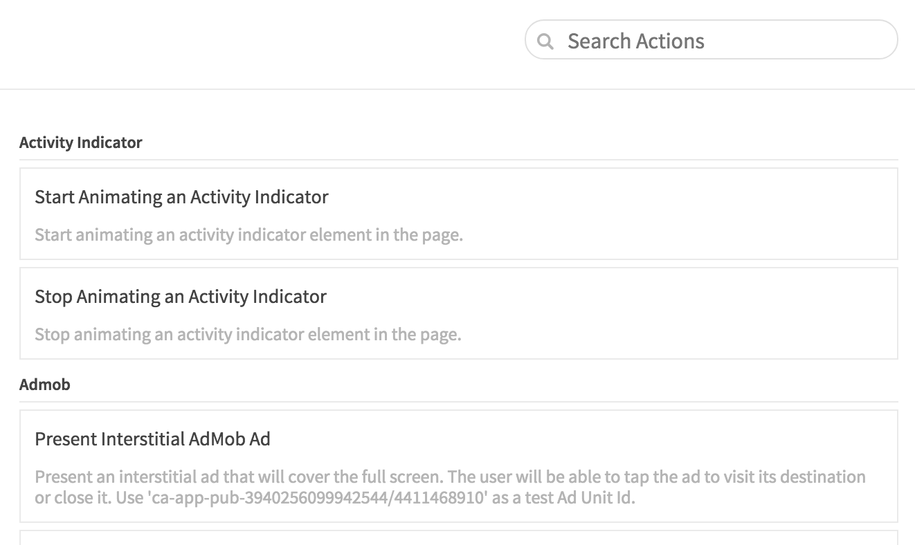 Dropsource Actions